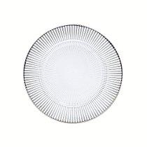 Prato raso Luce com borda prata 28 cm