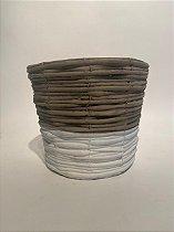 Vaso Cerâmica Bicolor