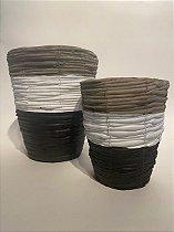 Vaso Cerâmica Tricolor Xingu
