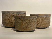 Cachepot Cerâmica Trançada