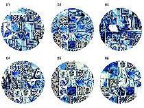 Jogo Americano Redondo - Azulejos Azuis (Conjunto de 6 unidades)