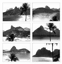 Jogos Americanos - Rio Listrado Preto e Branco (6 unidades)