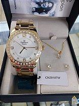 Relógio Champion Feminino - Kit - CN29187W