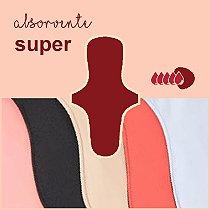 Absorvente Korui Super - Cores Lisas