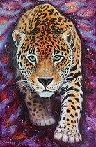 """""""Onça-pintada da Via Láctea II""""- Poster Full Color Papel 250g"""