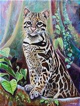 """""""Gato-maracajá I""""- Poster impresso Full color Papel 250 g"""