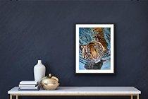 """Tigre de Bengala""- Poster impresso Full color Papel 250 g"
