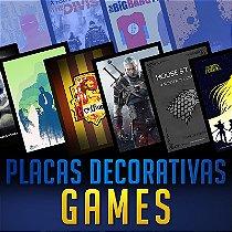 PLACAS DECORATIVAS - GAMES