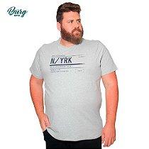 Camiseta Gola Careca Plus Size - N YRK