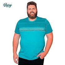 Camiseta Gola Careca Manga Curta Plus Size