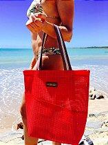 Bolsa de Praia Vermelha Tela Vertical