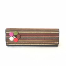 Clutch listras coloridas tear jeans