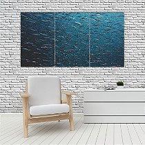 Quadro Mosaico Decoração Animal 121x65 com 3 Peças Mod 81