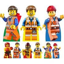 KIT 9 DISPLAY TOTEM LEGO FESTA ANIVERSÁRIO 88cm