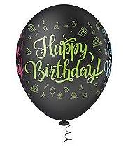 Balão Happy Birthday | 4 unidades