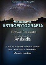 CURSO ASTROFOTOGRAFIA EM ANALÂNDIA / COM HOSPEDAGEM SINGLE (ACOMODA CASAL)