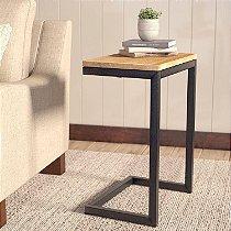 Mesa de apoio com pés de ferro para notebook ou livros - 100% MDF