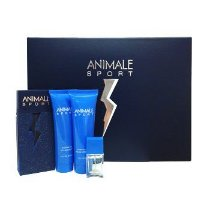 Kit Animale Sport Masculino 100ml com Gel de Banho + Pós-Barba + Miniatura