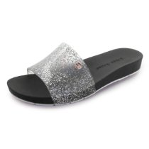 Chinelo Slide Bright Miss-Miss | Prata Gliter