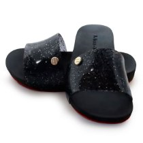 Chinelo Slide Bright Kids Miss-Miss | Preto Gliter