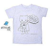 Camiseta para pintar (branca) - Batman