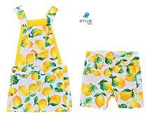 Conjunto Limão - Vestido e Bermuda
