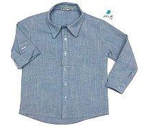 Camisa Fausto - Azul   | Linho| Adulto