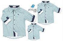kit Camisa Luigi - Família (três peças)   Fazendinha   Manga Longa