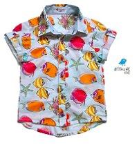 Camisa Vavá  - Estampa fundo do mar