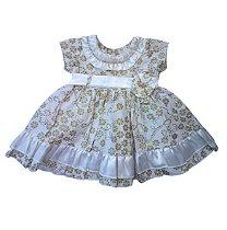Vestido de bebe dourado e prata