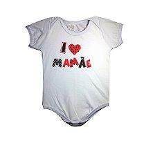 Body de Bebê Eu Amo a Mamãe