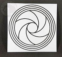 Gráfico Diafragma I - PVC - 17 x 17 cm
