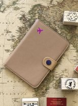 Porta Passaporte Viajante - Bege