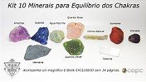 Kit 10 Minerais para Equilíbrio dos Chakras + E-Book Exclusivo