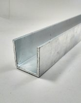 Perfil U De Aluminio 1.1/2 X 1/8 = (3,81cm X 3,17mm)