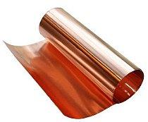 Folha de cobre 0,10mm espessura x 30cm largura