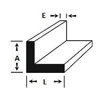 Cantoneira de Aluminio 1.1/2 X 1/16 = (38,10mm X 1,58mm) com 1 metro