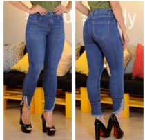 Skinny Jeans Feminina Cintura Alta