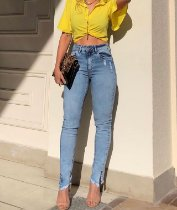 Calça Skinny Feminina Cintura Alta