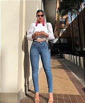 Calça Skinny Jeans Feminina Cintos