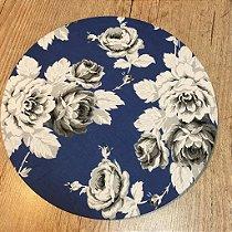 Capa de Sousplat Floral Azul Royal