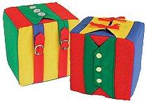Cubos De Atividades 2 Cubos 16x16x16cm Para 8 Atividades