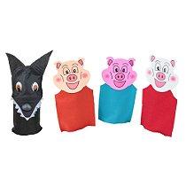 Fantoches 3 Porquinhos Feltro 4 Personagens