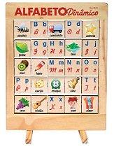 Alfabeto Dinâmico Composto De 25 Peças Giratórias Em Madeira