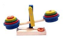 Brinquedo Educativo Balança Em Madeira Colorida 13x27 cm - FUNDAMENTAL