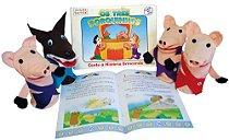 Fantoche + Livro Os Tres Porquinhos