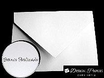 Envelope Branco Perolado - Aba Bico 16,5x22,5cm - 25 unidades