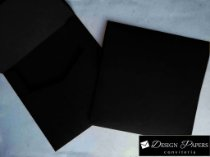 Envelope Preto 180g - Aba Reta 20x20cm - 20 unidades