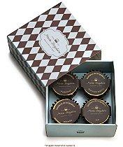 Caixa com 4 forminhas de chocolate recheada com brigadeiro