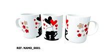 Caneca Ceramica Dia dos Namorados 350ml Branca ( 01 unidade )
